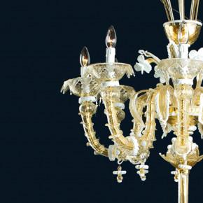 Klassische Murano Rezzonico Glas Stehleuchte
