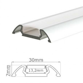 LED-Stripes Profil - 30 x 7 mm - claro