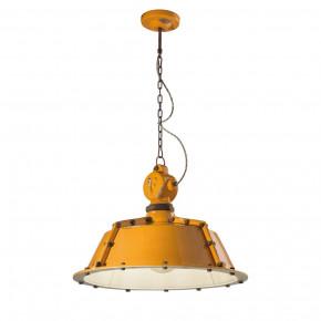 Lámpara colgante de aspecto industrial en mal estado