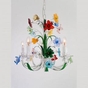 Murano Luster mit bunten Blumen