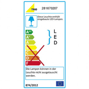 H2O UpDn LED nickel-matt