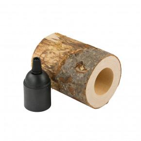 Holz-Lampenfassung E27