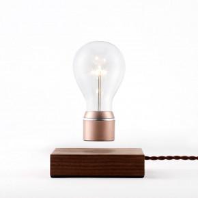 Flyte Buckminster Walnussbasis Glühbirne mit Kupferkappe