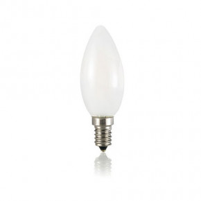 LED Glühfaden Kerze E14 4W 430lm 3000K matt