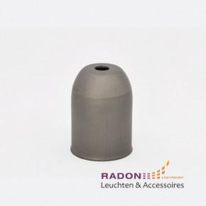 Metallabdeckung mit Lampenfassung und Zugentlastung E27