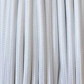 Cable textil 3x0,75mm² blanco
