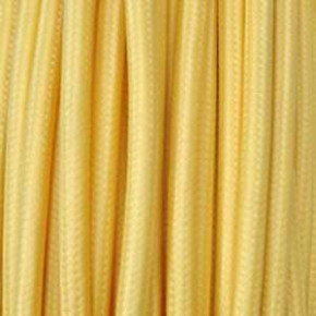 Textilkabel 2x0,75mm² gelb