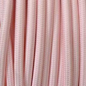 Textilkabel 3x0,75mm² rosa