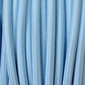 Textilkabel 3x0,75mm² hellblau