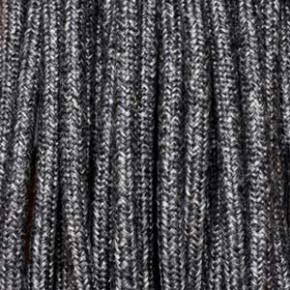 Textilkabel 3x0,75mm² Leinen dunkel grau