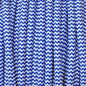 Textilkabel 3x0,75mm² weiss/blau