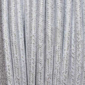 Textile cable 3x0,75mm² lamè white