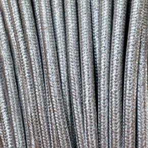 Textilkabel 3x0,75mm² lamè silber
