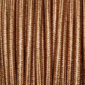 Textilkabel 3x0,75mm² lamè kupfer