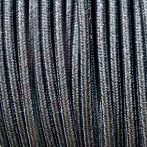 Textilkabel 3x0,75mm² lamè grau