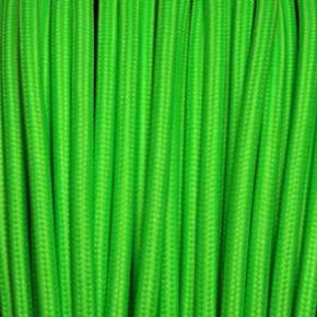 Textilkabel 3x0,75mm² fluoreszierend grün