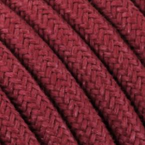 Textilkabel 3x0,75mm² Baumwolle kirschrot