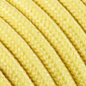 Textilkabel 3x0,75mm² Baumwolle zitrone
