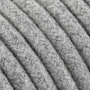 Textilkabel 3x0,75mm² Baumwolle grau