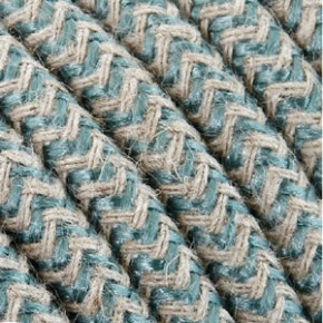 Cavo tessile 3x0,75mm² cotone salvia/bianco