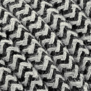 Textile cable 3x0,75mm² cotton black/white