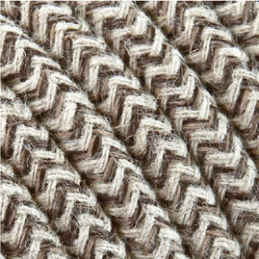 Textile cable 3x0,75mm² cotton sand/white