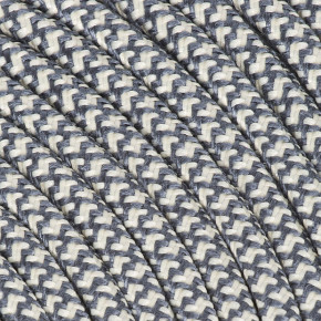 Textile cable 3x0,75mm² cotton graphite / creme