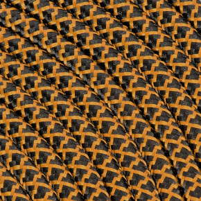 Textile cable 3x0,75mm² cotton black / whiskey