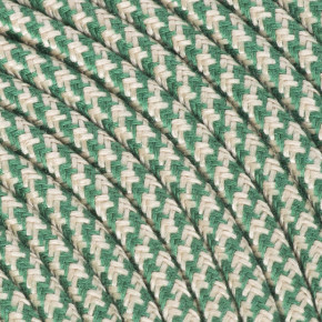 Textile cable 3x0,75mm² cotton sand / green