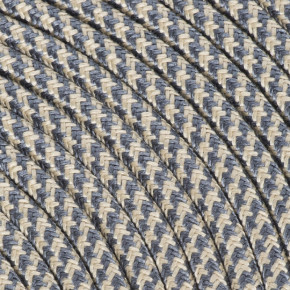 Textile cable 3x0,75mm² cotton sand / graphite