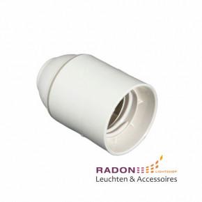 Kunststoff Lampenfassung E27 - weiß, glatt