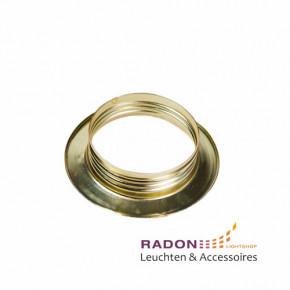 Überwurfmutter für Gewindemantel-Fassung E27 Metall - gold