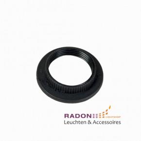 Überwurfmutter für Gewindemantel-Fassung E27 Kunststoff - schwarz