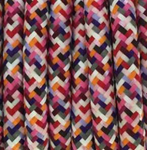 Textilkabel 3x0,75mm² Pixel-Fuchsia