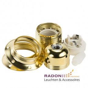 Metal lamp holder E27 gold