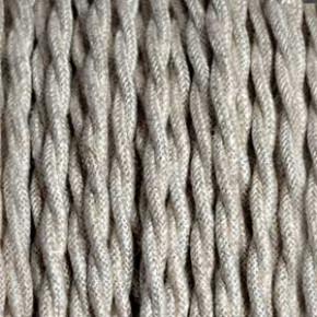 Textilkabel 3x0,75mm² Leinen beige