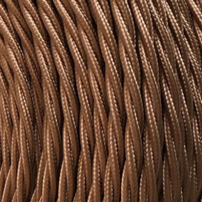 Textile cable 3x0,75mm² Havana brown