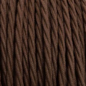 Textilkabel 3x0,75mm² Baumwolle braun