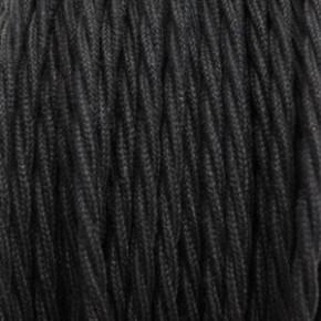 Textilkabel 3x0,75mm² Baumwolle schwarz