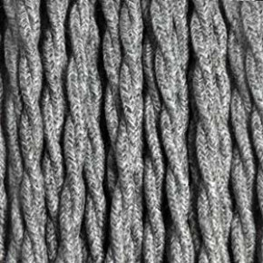 Textile cable 3x0,75mm² linen gray