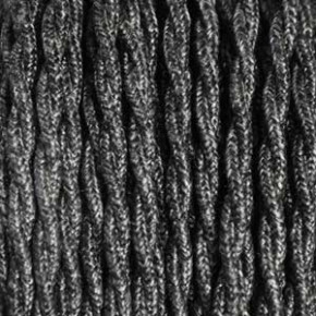 Textile cable 3x0,75mm² linen dark gray