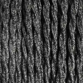 Textilkabel 3x0,75mm² Leinen dunkelgrau