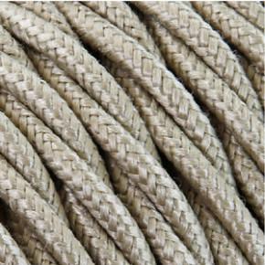 Textilkabel 3x0,75mm² Baumwolle sand
