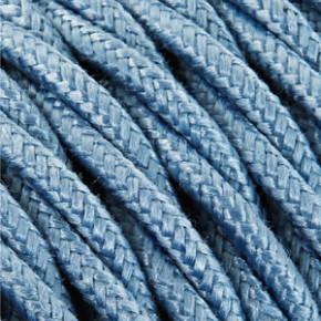 Textilkabel 3x0,75mm² Baumwolle himmelblau