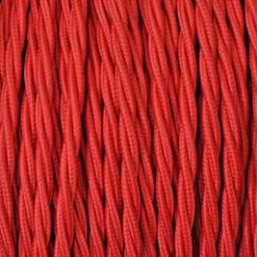 Textilkabel 2x0,75mm² rot
