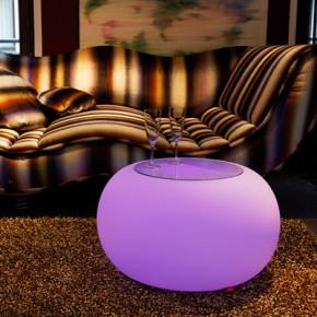 Bubble LED mit Sitzkissen, violett für Innenräume
