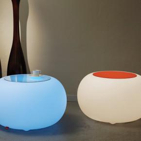 Bubble LED mit Sitzkissen, orange für Innenräume