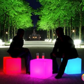 Cube LED Accu für Garten und Terrasse