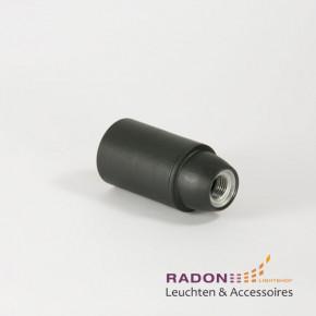 Iso-Fassung E14 schwarz