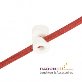 Cable holder PVC white